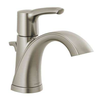 Parkwood 4 in. Centerset Single-Handle Bathroom Faucet with Pop-Up Assembly in Brushed Nickel