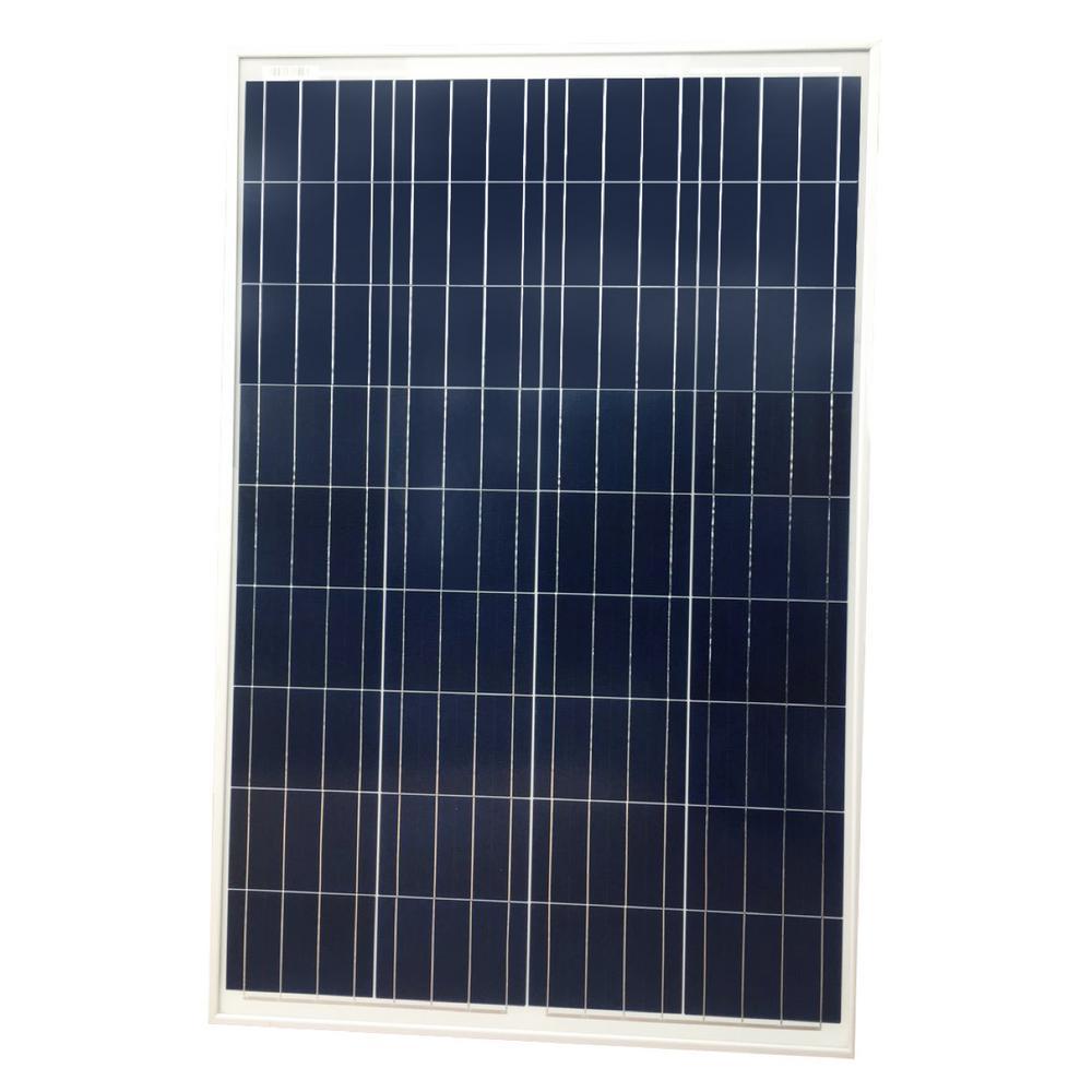 100-Watt Polycrystalline Solar Panel for 12-Volt Charging