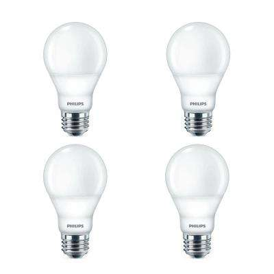 60-Watt Equivalent A19 Dimmable with Warm Glow Dimming Effect Energy Saving LED Light Bulb Soft White (2700K) (4-Pack)