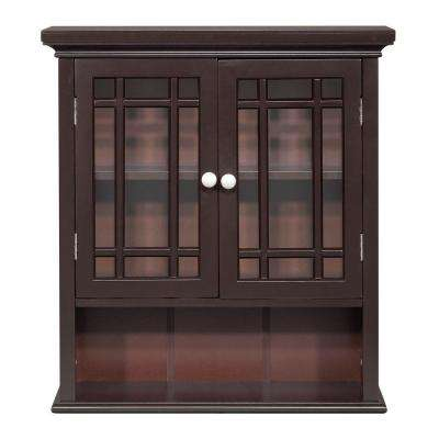 Albion 24 in. H x 22 in. W x 7 in. D Bathroom Storage Wall Cabinet in Espresso Color