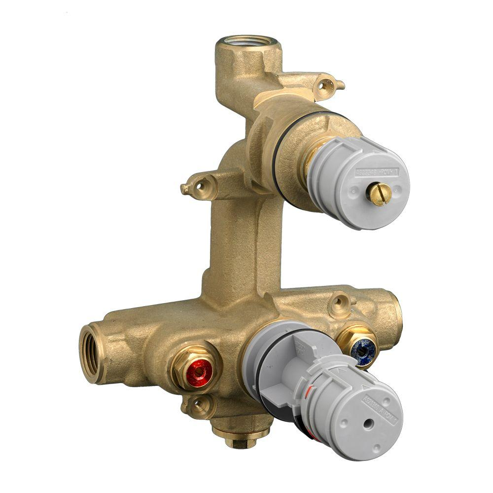 null Ceratherm Rough Valve Body with 1/2 NPT Inlets/Outlets, 7.2 GPM at 40 PSI
