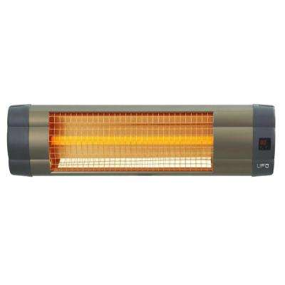 1500 Watt 110 Volt Electric Mid-Wave Infrared Heater Unit with Remote Control