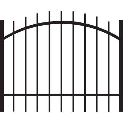 Brunswick Standard-Duty 4 ft. W x 3 ft. H Black Aluminum Arched Pre-Assembled Fence Gate