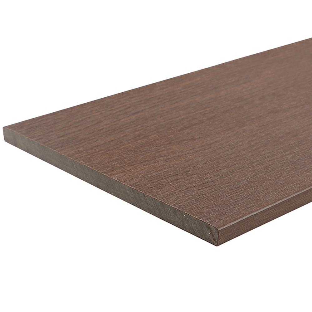 UltraShield 0.6 in. x 12 in. x 12 ft. Brazilian Ipe Fascia Composite Decking Board