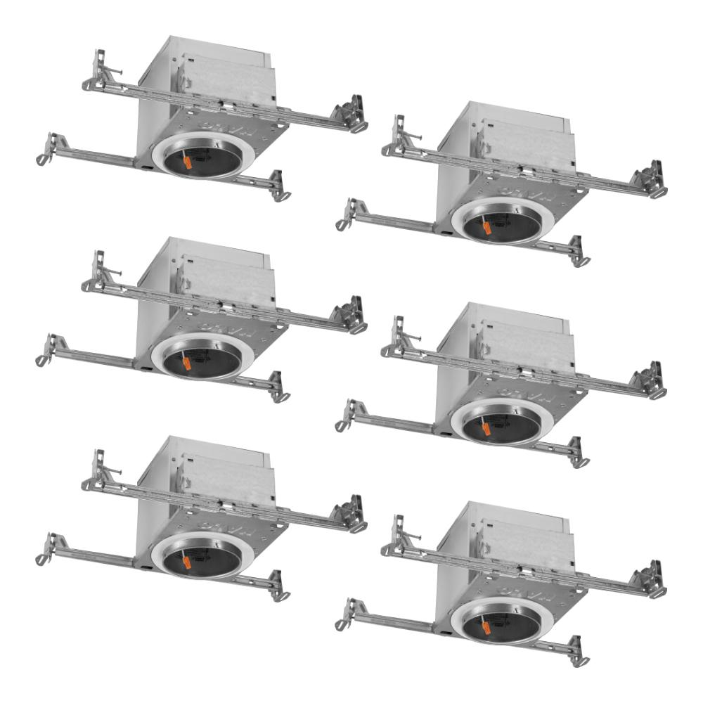 Halo H995 4 In Aluminum Led Recessed Lighting Housing For New Construction Ceiling T24 Ic Rated Air Tite 6 Pack H995icat 6pk The Home Depot