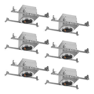 H995 4 in. Aluminum LED Recessed Lighting Housing for New Construction Ceiling, T24, IC Rated, Air-Tite (6-Pack)