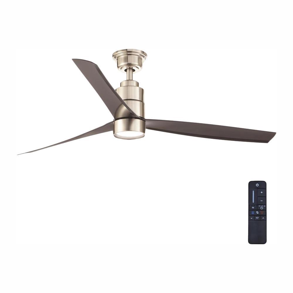 Cirino 52 in. LED Brushed Nickel Ceiling Fan