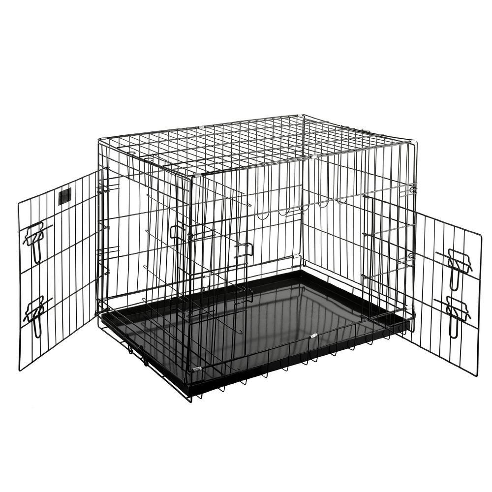 29 in. L x 20.5 in. W Heavy-Duty Folding Pet Crate