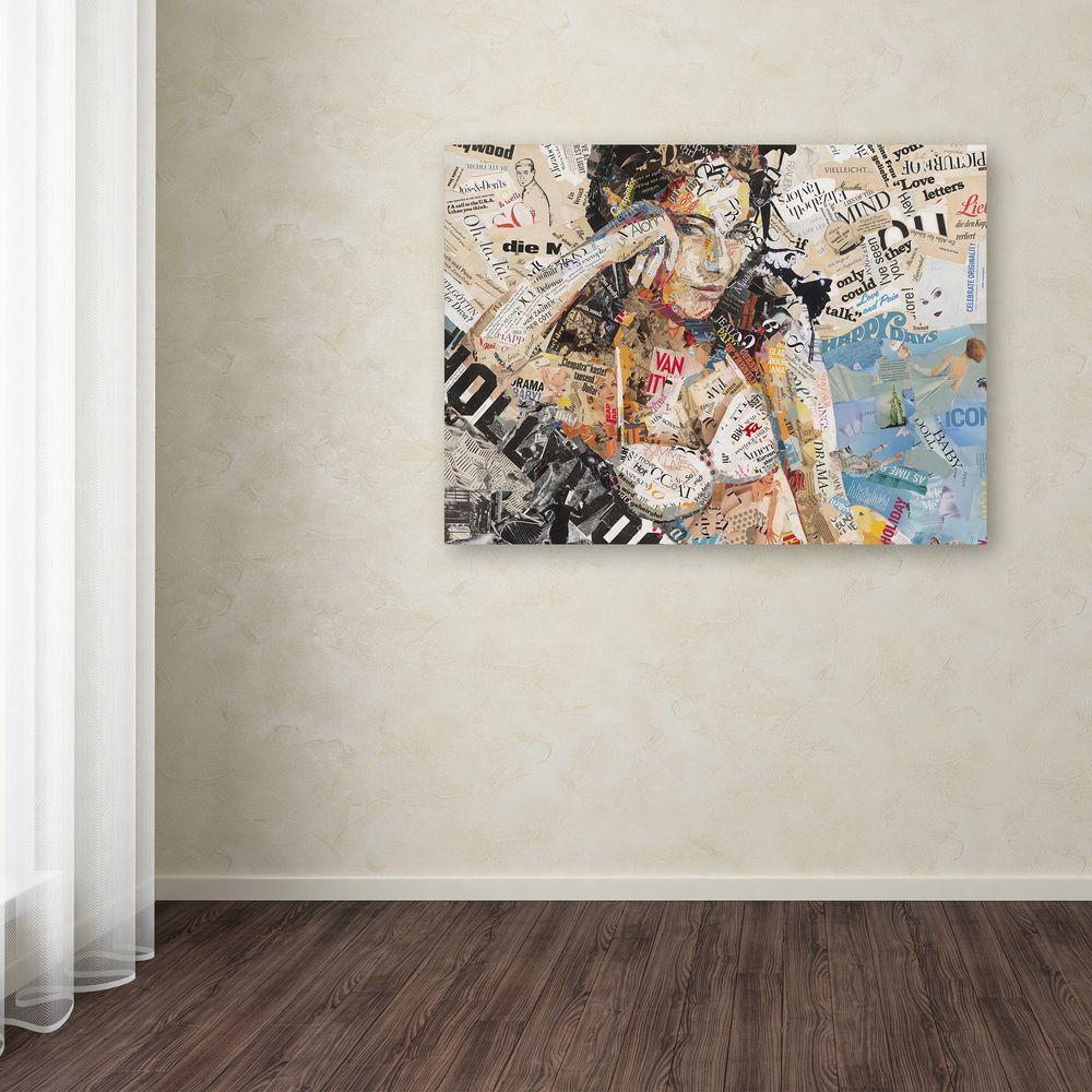 14 In X 19 In Hollywood By Ines Kouidis Printed Canvas Wall Art