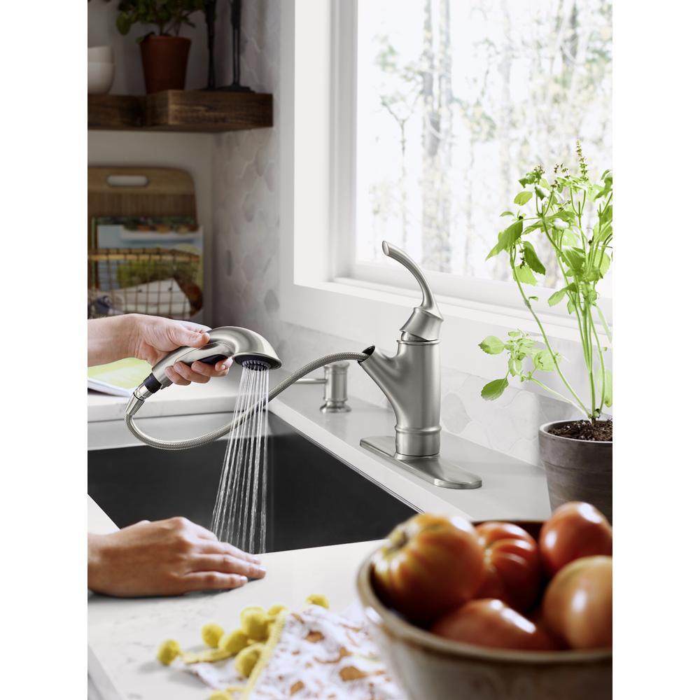 Moen Marietta Spot Resist Stainless Pullout Kitchen Faucet 87601SRS