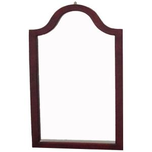 MegaHome 31.9 inch x 2 inch Cherry Wood Framed Wall Mirror by MegaHome