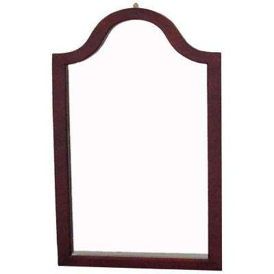 31.9 in. x 2 in. Cherry Wood Framed Wall Mirror