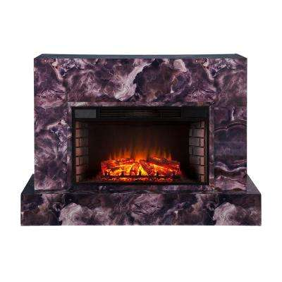 Mendelyn 57 in. TV Stand Electric Fireplace in Multi-Colored