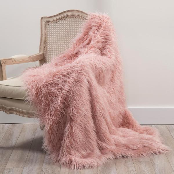 Supply Super Soft Faux Fur Blanket Warm Solid Shaggy A Blanket Throw Rug 8 Colors For Sofa Bedding Batteries Power Source