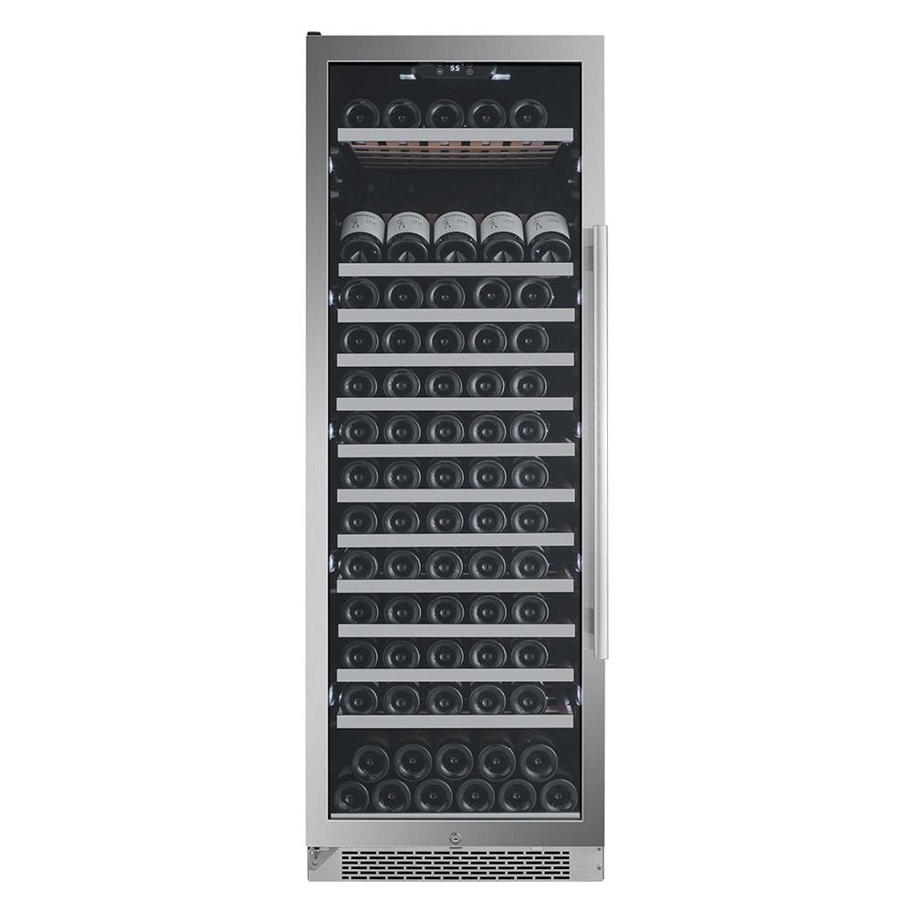 141-Bottle 24 in. Built-in Wine Cooler with Argon Filled Double Paned