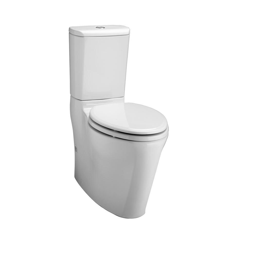 KOHLER Sterla 2-Piece 1.6 GPF Dual Flush Elongated Toilet in White-DISCONTINUED