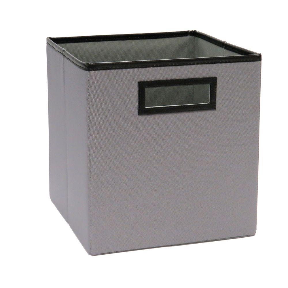 10.5 in. W x 11 in. H x 10.5 in. D Ash Gray Polyester Storage Bin