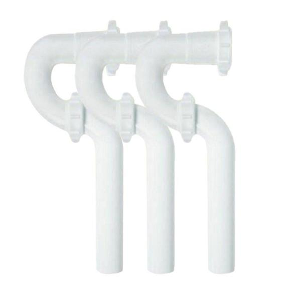 1-1/2 in. White Plastic Sink Drain P-Trap with Reversible J-Bend (3-Pack)