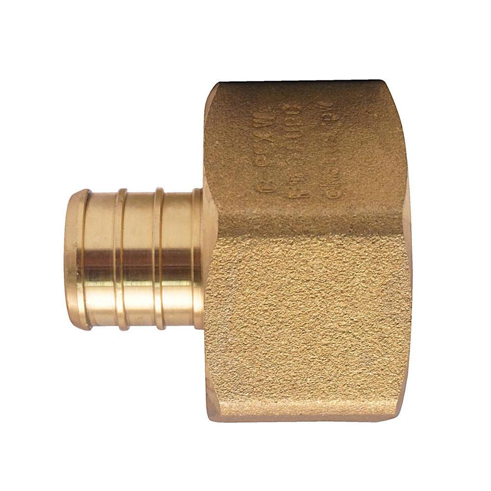 3/4 in. Brass PEX Barb x 1 in. Female Pipe Thread Adapter