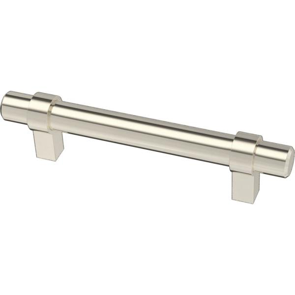Essentials 3-3/4 in. (96mm) Center-to-Center Wrapped Nickel Plated Bar Drawer Pull (12-Pack)