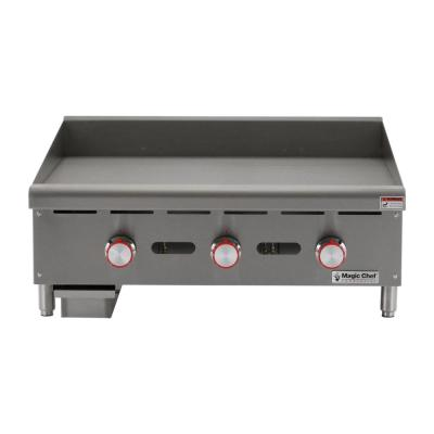 Commercial 36 in. Thermostatic Countertop Gas Griddle