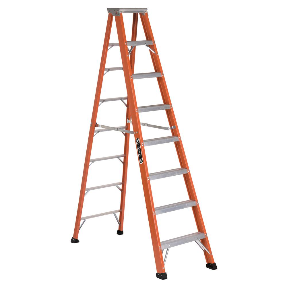 8 ft. Fiberglass Step Ladder with 375 lbs. Load Capacity Type