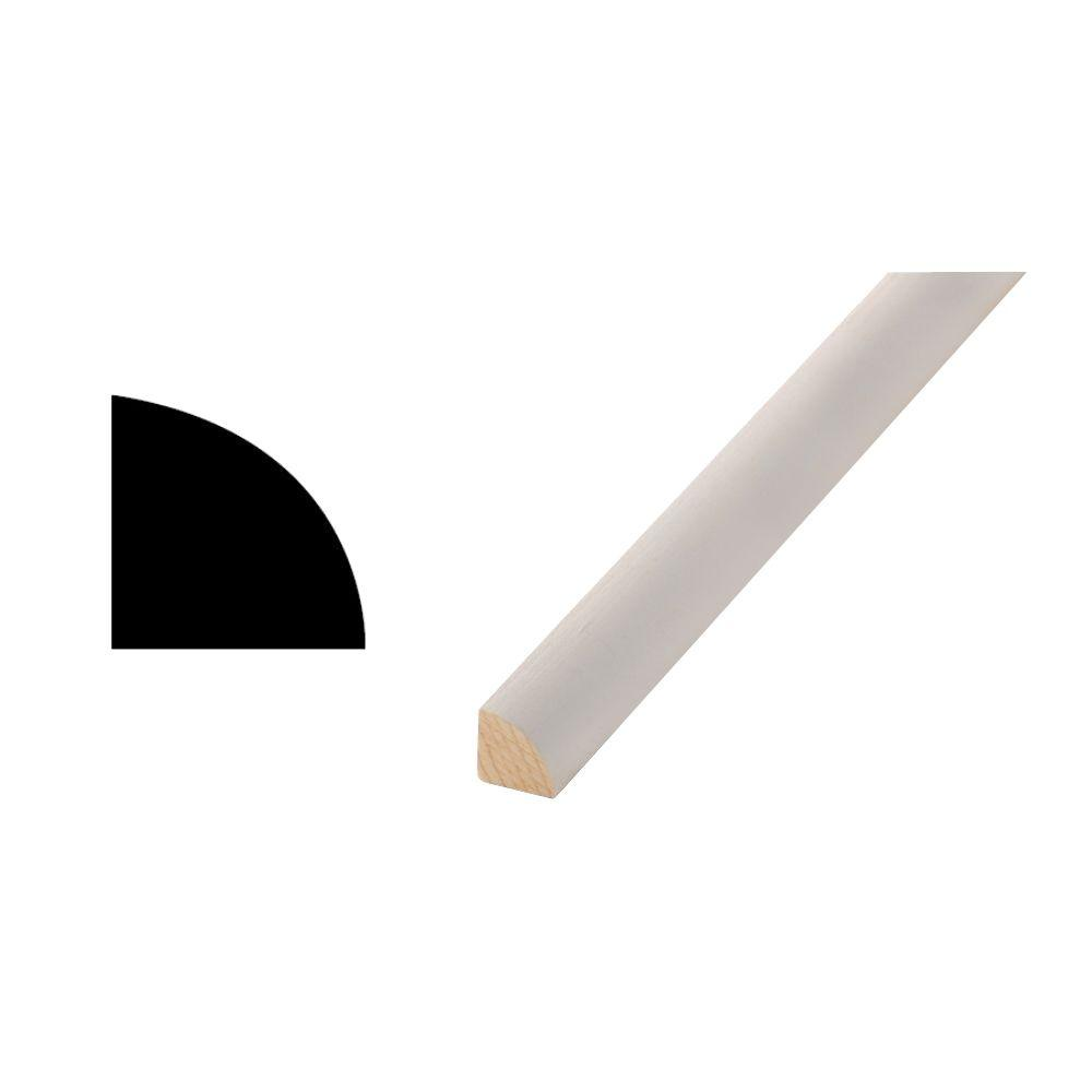 Woodgrain Millwork WM 106 - 11/16 in. x 11/16 in. Primed Finger-Jointed Quarter Round Moulding
