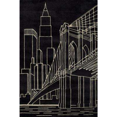 Young Buck Collection Black 2 ft. x 3 ft. Area Rug