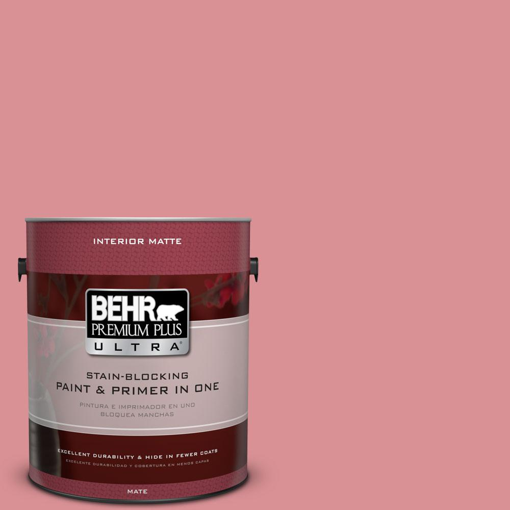 BEHR Premium Plus Ultra Home Decorators Collection 1 gal. #HDC-CT-11 La Vie En Rose Flat/Matte Interior Paint