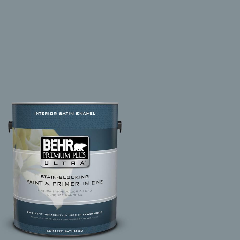740f 4 Dark Storm Cloud Satin Enamel Interior Paint And