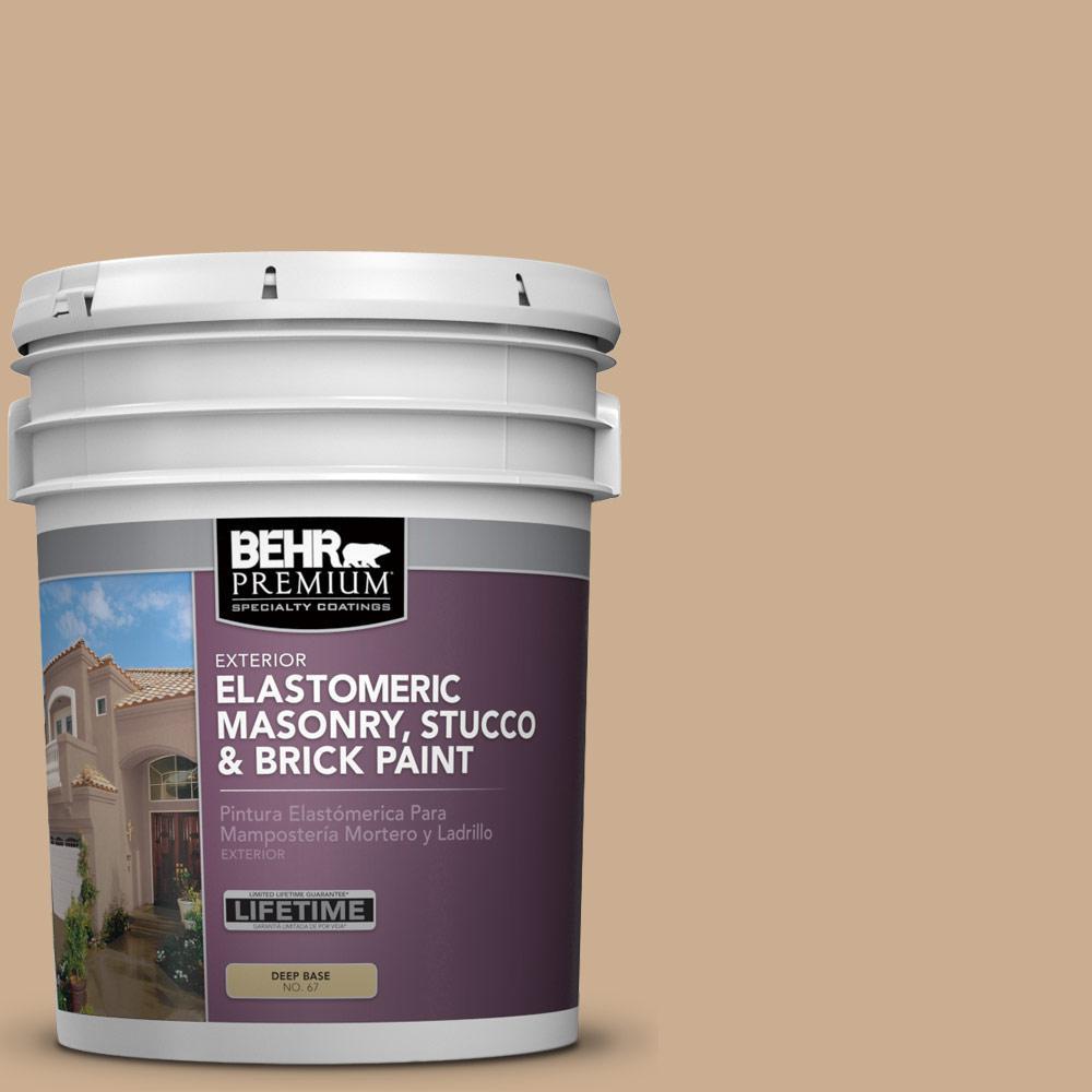 5 gal. #PFC-23 Tan Elastomeric Masonry, Stucco and Brick Exterior Paint