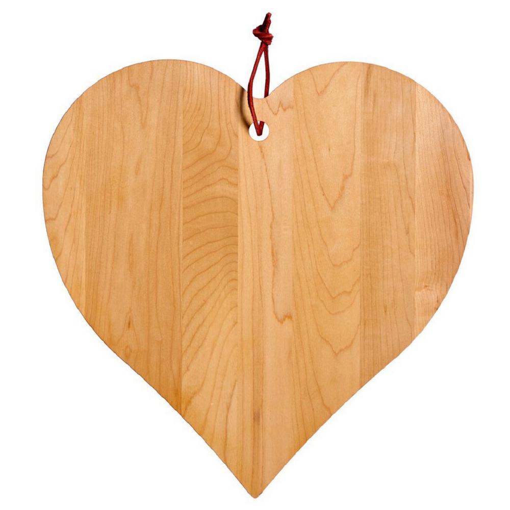 J K Adams Maple Heart Shaped Board