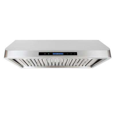 36 in. Ducted Under Cabinet Range Hood in Stainless Steel with Touch Display, LED Lighting and Permanent Filters