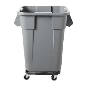 square trash can dolly rubbermaid commercial - Commercial Trash Cans
