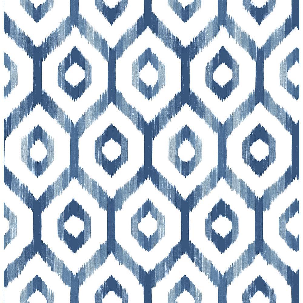 56.4 sq. ft. Lucia Blue Diamond Wallpaper