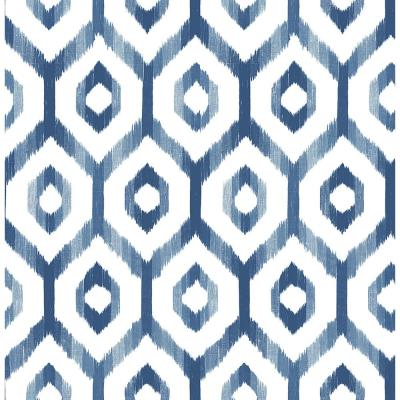 Lucia Blue Diamond Paper Strippable Roll Wallpaper (Covers 56.4 sq. ft.)