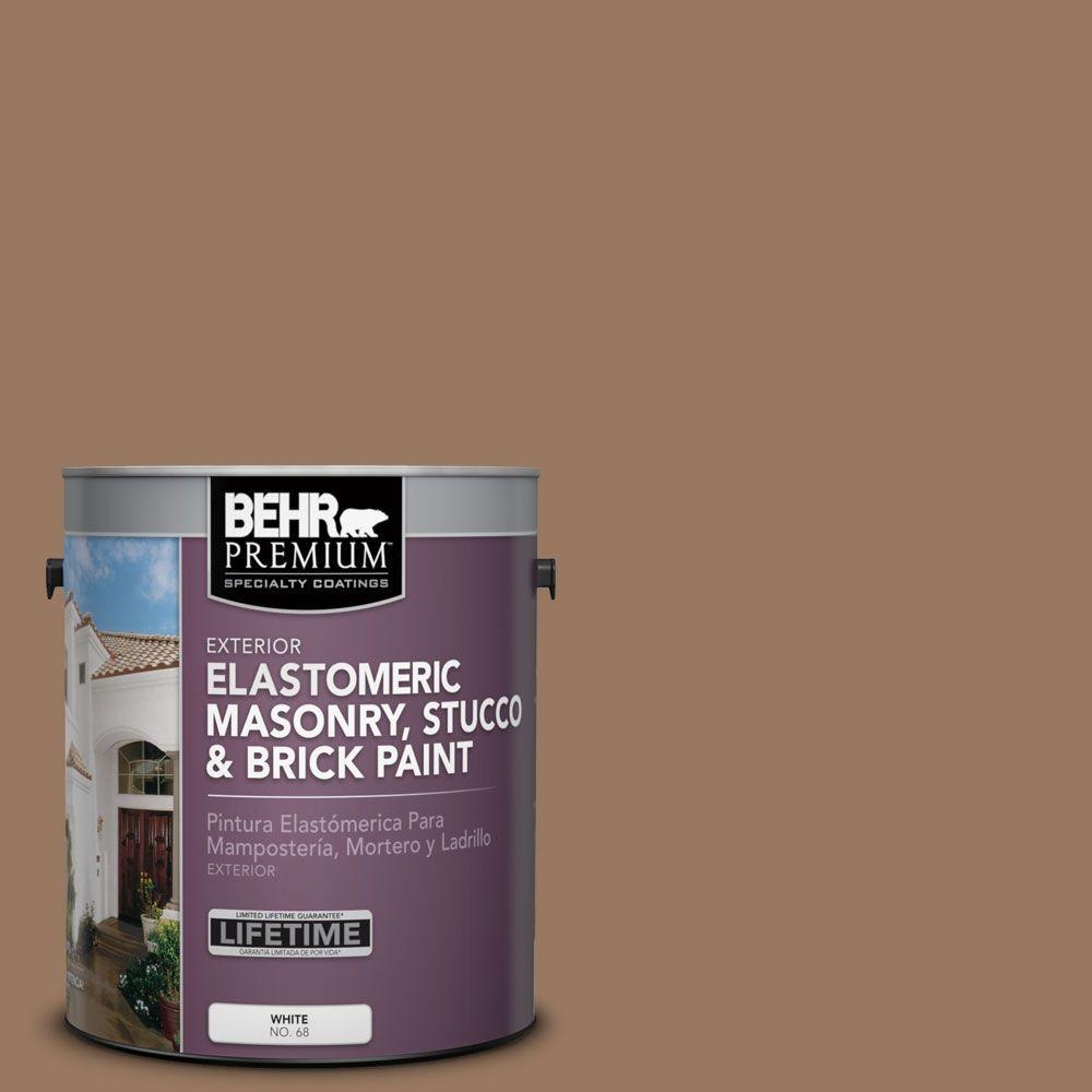 1 gal. #MS-18 Clay Brown Elastomeric Masonry, Stucco and Brick Exterior