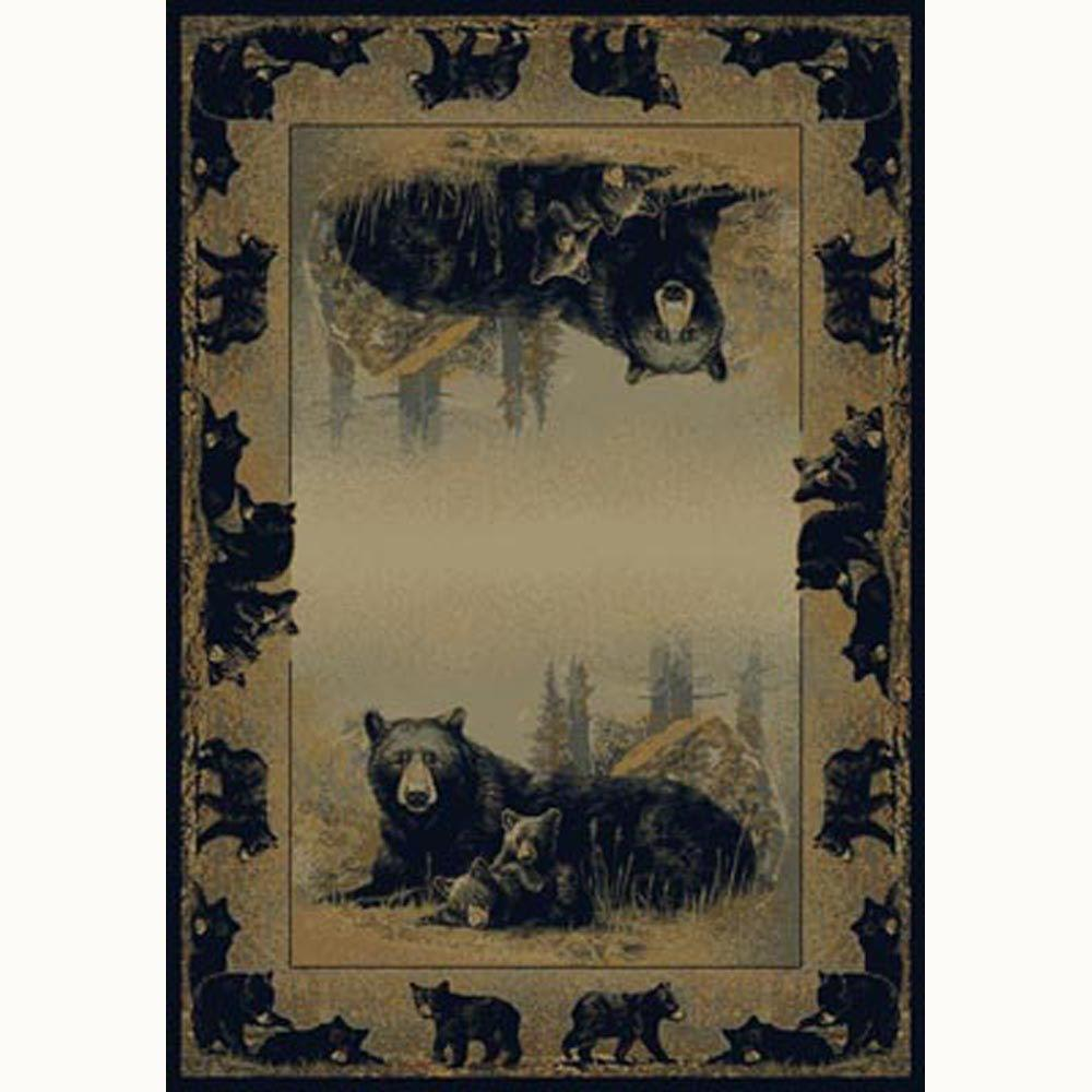 United Weavers Time To Play Beige 7 ft. 10 in. x 10 ft. 6 in. Contemporary Lodge Area Rug
