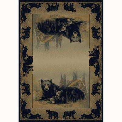 Time To Play Beige 8 ft. x 11 ft. Contemporary Lodge Area Rug