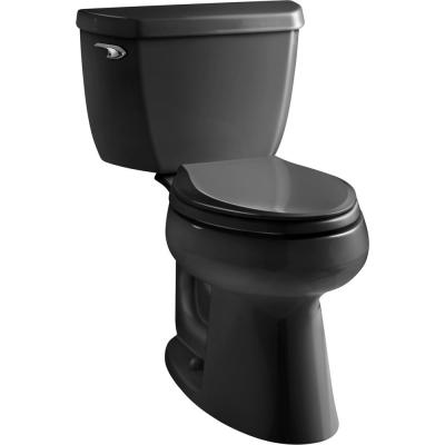 Highline Classic 2-Piece 1.0 GPF Single Flush Elongated Toilet in Black Black