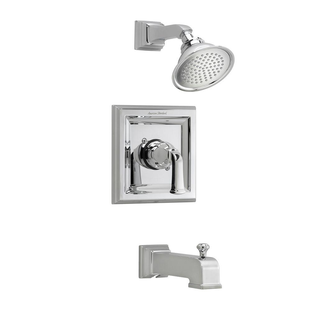 Moen Kingsley Posi Temp 1 Handle Tub And Shower Trim Kit In Polished Brass Valve Not Included