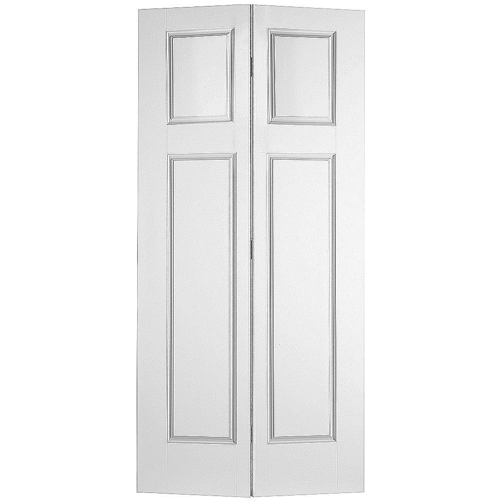 Masonite Glenview Smooth 4-Panel Hollow Core Primed Composite Interior Closet Bi-fold Door
