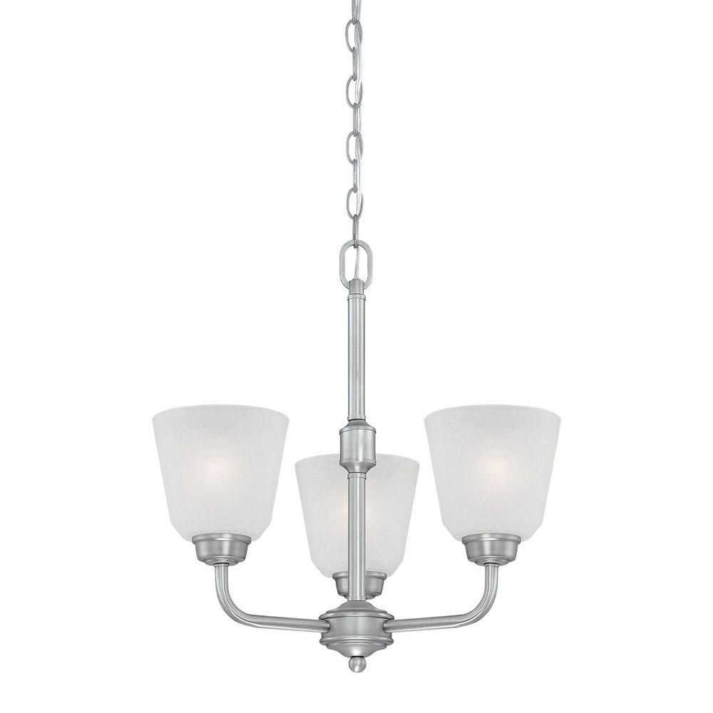5 Light Brushed Pewter Chandelier With India Scavo Glass