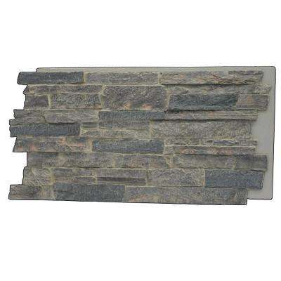 Faux Mountain Ledge Stone 24-3/4 in. x 48-3/4 in. x 1-1/4 in. Panel Cliff Gray