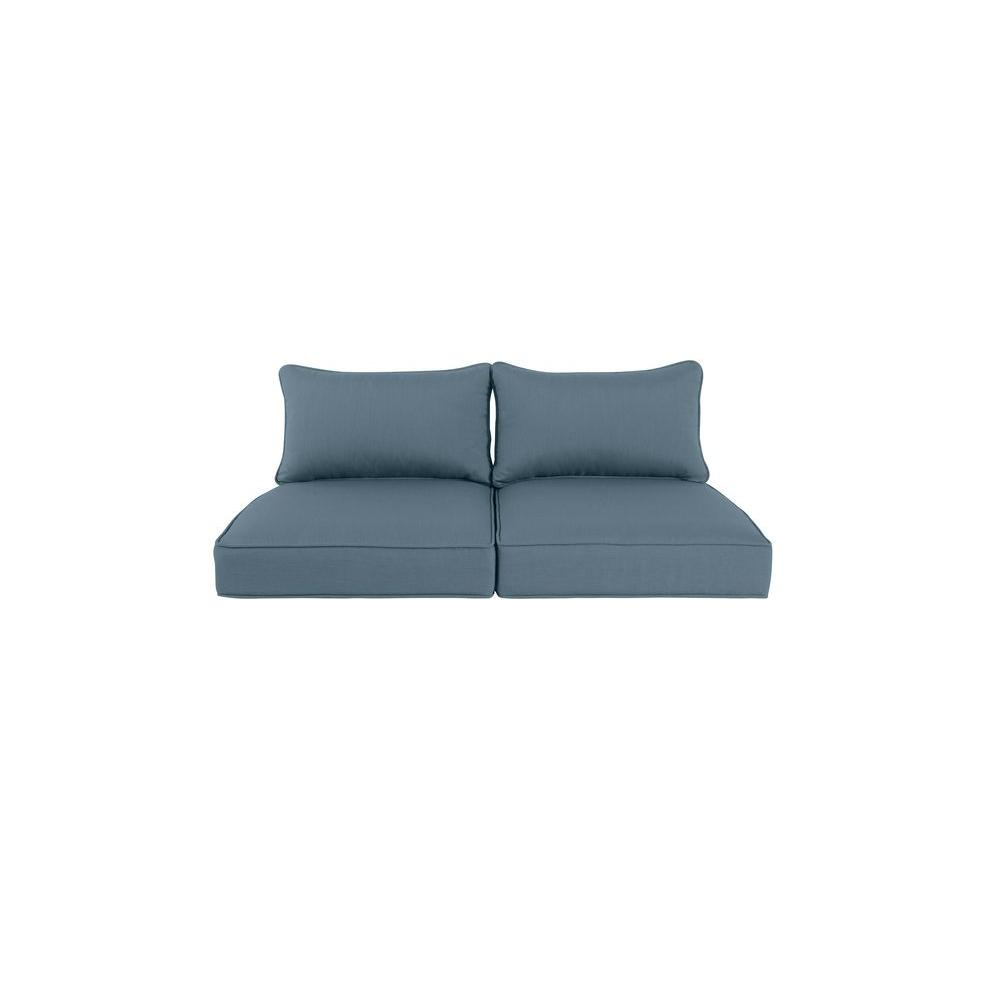 Greystone Replacement Outdoor Loveseat Cushion In Denim