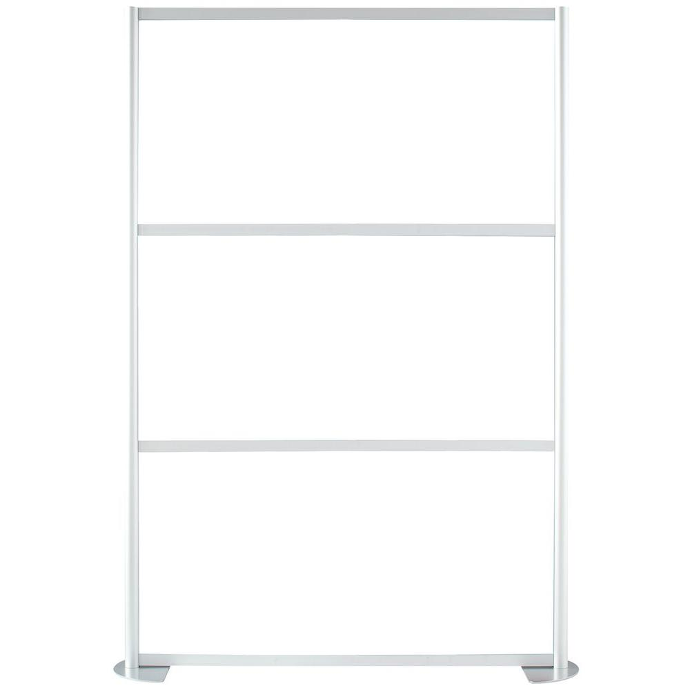Contractors Wardrobe 51-1/8 in. x 75-3/8 in. uDivide White 3-Panel Room Divider