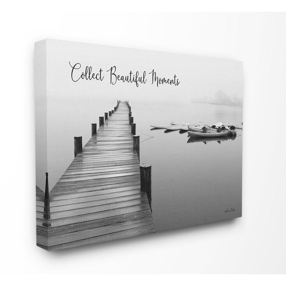 The Stupell Home Decor Collection 16 In X 20 In Black And White Calm Lake Photography Collect Beautiful Moments Canvas Wall Art By Lori Deiter Stp 146 Cn 16x20 The Home Depot