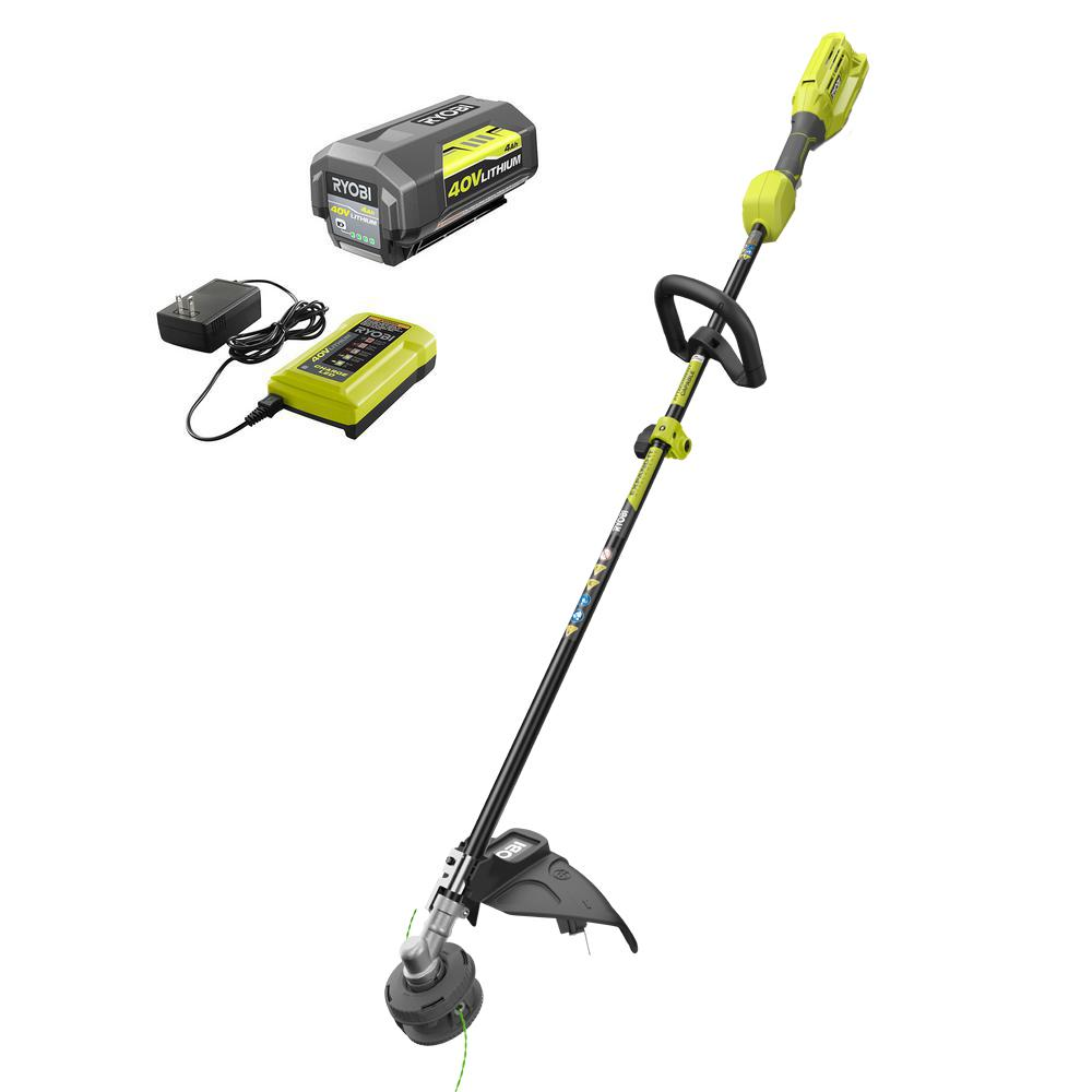 40-Volt Lithium-Ion Cordless Attachment Capable String Trimmer with 4.0 Ah Battery and Charger Included