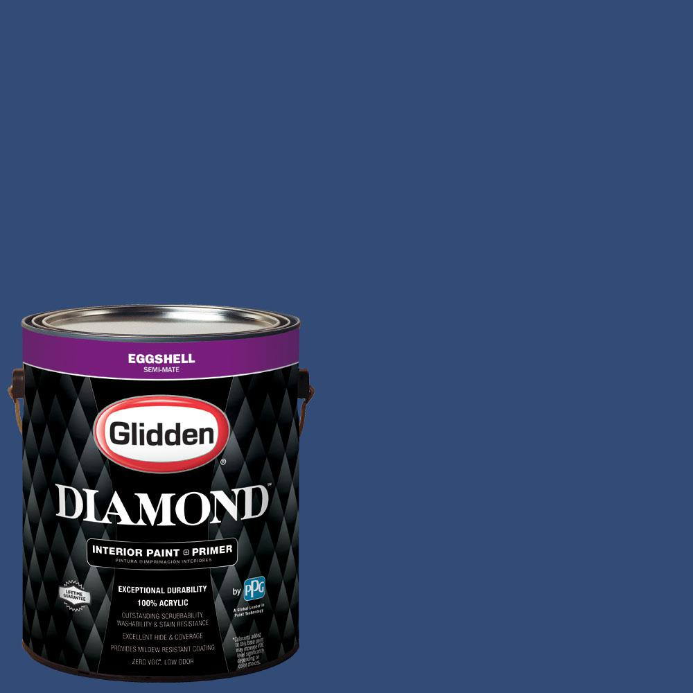Glidden Diamond 1 gal. #nfl-091A New York Giants Dark Blue Eggshell Interior Paint with Primer