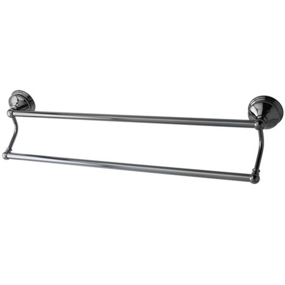 Kingston Brass Onyx 24 in. Double Towel Bar in Black Stainless Steel